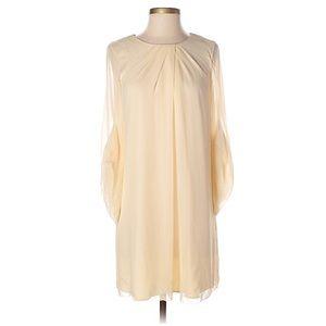 Diane von furstenburg cream dress